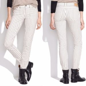 Madewell Twin Stripe Skinny Ankle Jeans